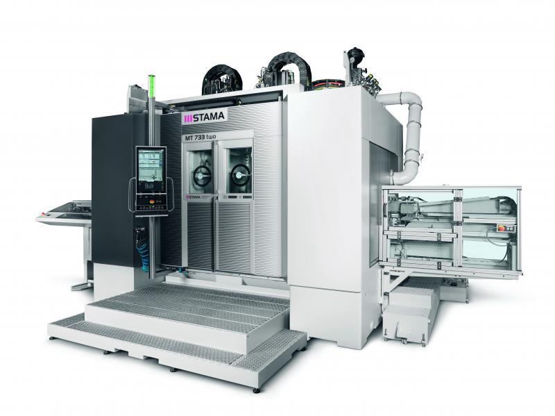 Die neue STAMA MT 733 two – hochproduktives Fräs-Dreh-Zentrum für stabile und hochgenaue Komplettbearbeitung.