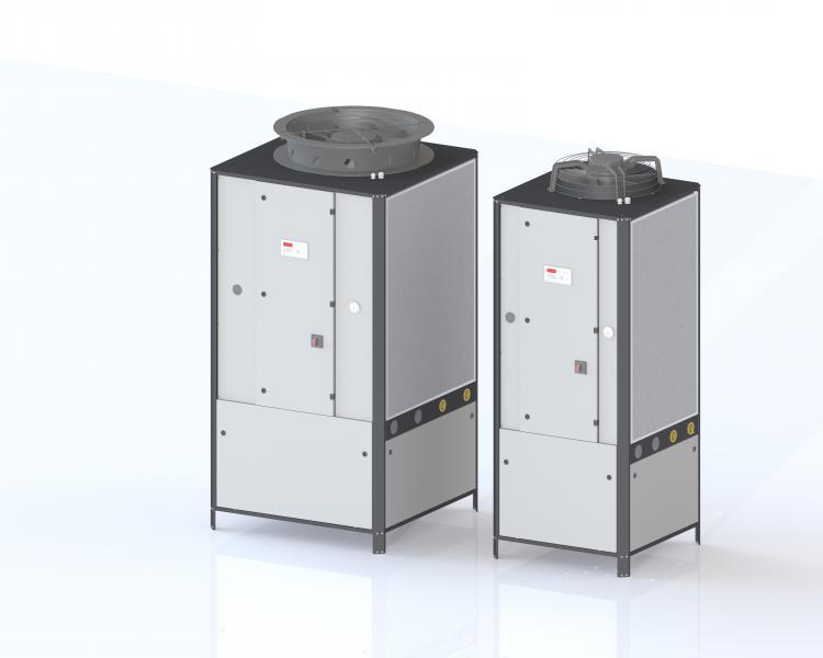 Prozesskühler omega.eco mit 10 bis 60 kW Kühlleistung