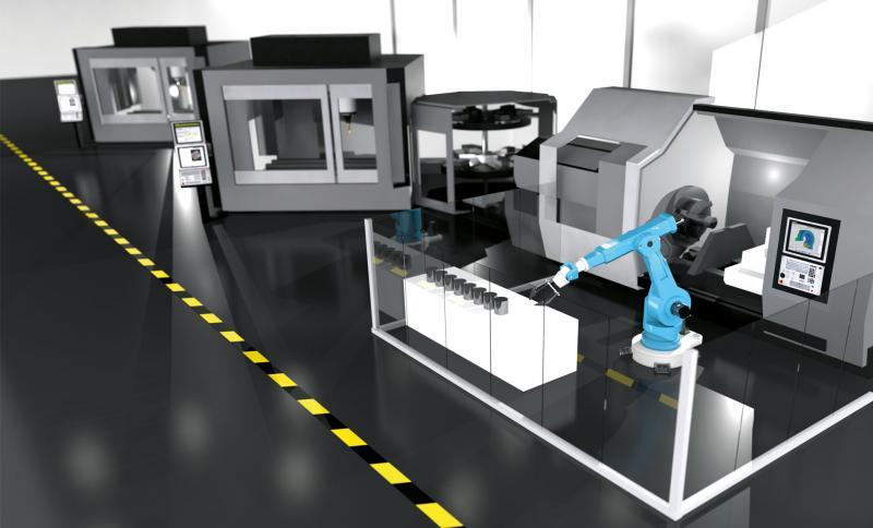 HEIDENHAIN-Partnerprogramm Automatisierung: reibungslose Abläufe zwischen Werkzeugmaschine und Robotern, Palettensystemen oder anderen Automatisierungsaufgaben