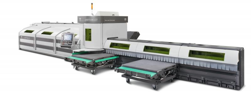 The LT7, a jewel of modern technology, was researched and developed on the basis of 30 years of expertise in tube laser cutting. The handling of tubes is fast and efficient, yet careful and delicate not to damage the surfaces. The technologies in the Active functions offer simple solutions to otherwise very complex problems. The available software applications, starting from Artube CAD/CAM, assist the operator in all the stages of the programming and production processes and represent a key aspect of success of the entire Lasertube family.