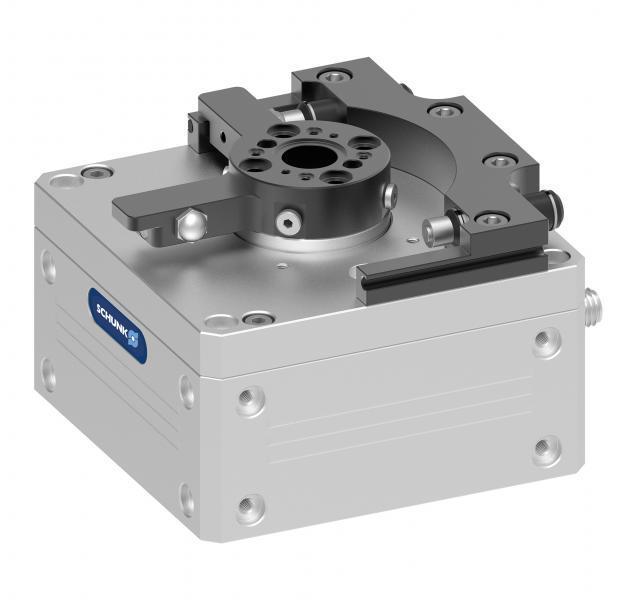 Gracias a la tecnología de autoaprendizaje altamente inteligente, el módulo giratorio de bajo desgaste ERP de SCHUNK, ajusta automáticamente su perfil de movimiento al peso del componente correspondiente. A diferencia de las unidades giratorias neumáticas, el componente de 24 V no necesita amortiguadores hidráulicos.
