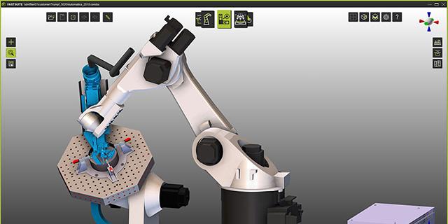 Simulation des 3D-Laserschweißprozesses mit dem TRUMPF TruLaser Robot 5020
