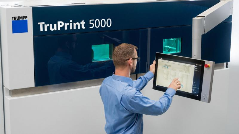 TRUMPF lightens the manual workload in 3D printing