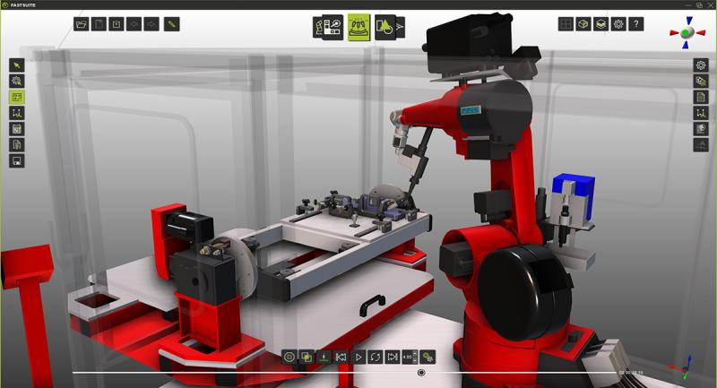 Arc welding robot with FASTSUITE