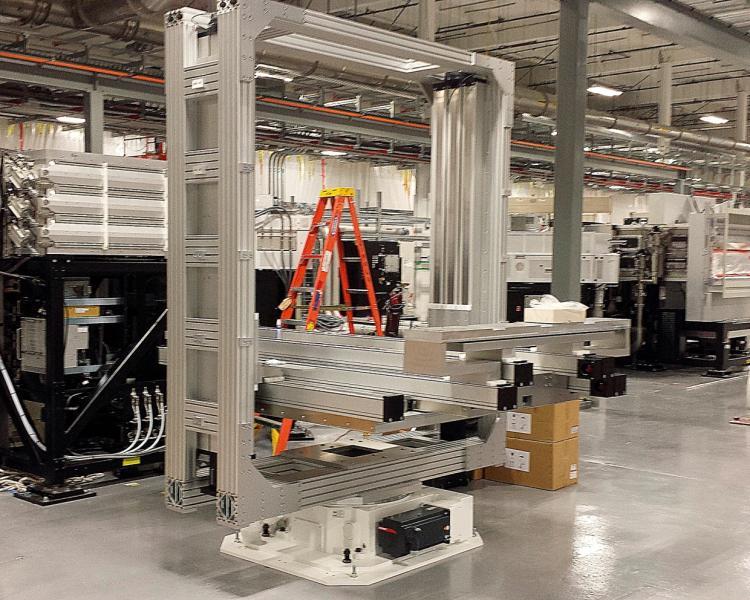 Beladungseinheit für die Fertigung von Wafern für die Produktion von Solarzellen