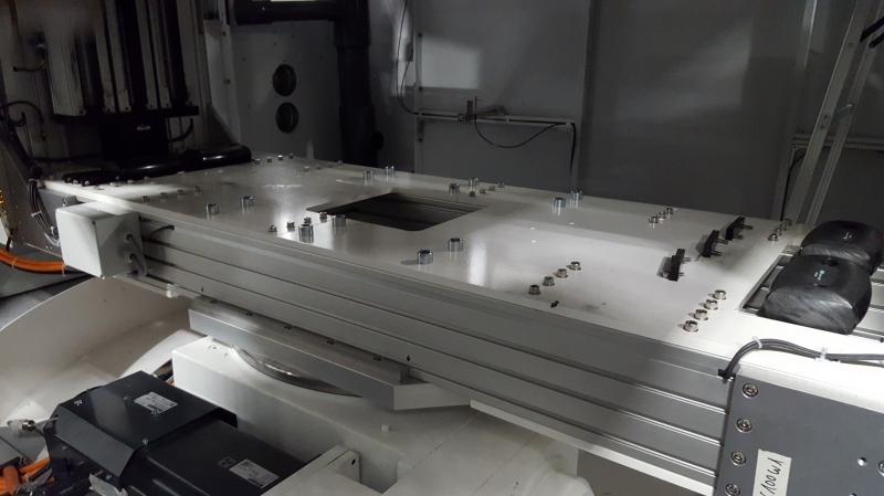 Konstruktion der LISCO GmbH mit Drehtisch, Zahnriemen- und Spindelantrieben
