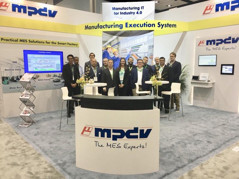 Part of the MPDV USA Inc. team at the booth