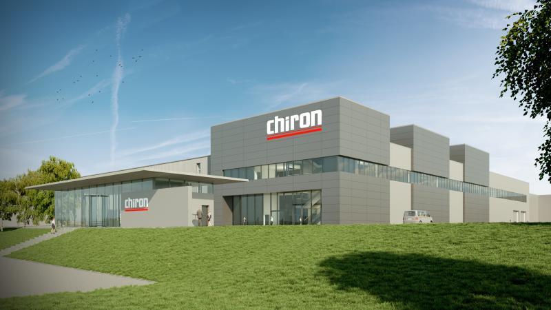 Grundsteinlegung CHIRON Precision Factory in Neuhausen – Auf rund 14.000 m² errichtet das Unternehmen die modernste Werkzeugmaschinenfabrik Europas.