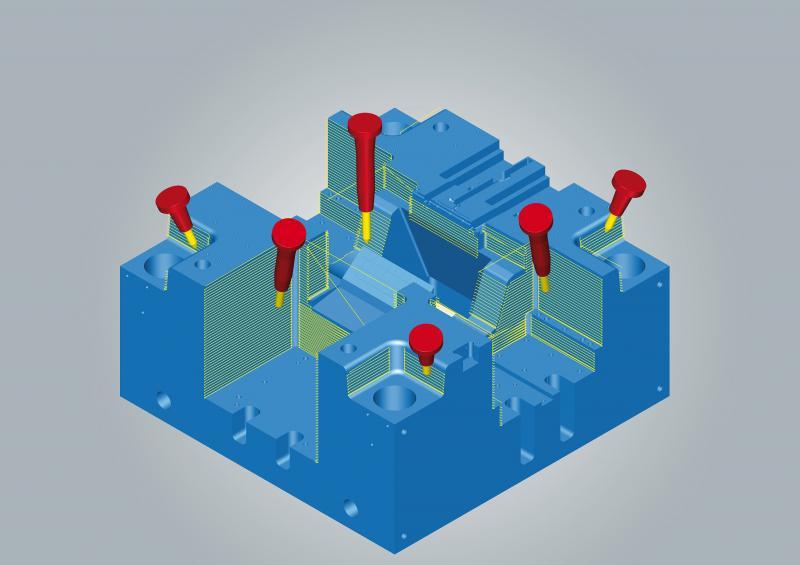 hyperMILL® MAXX Machining: hocheffiziente Schlichtbearbeitung