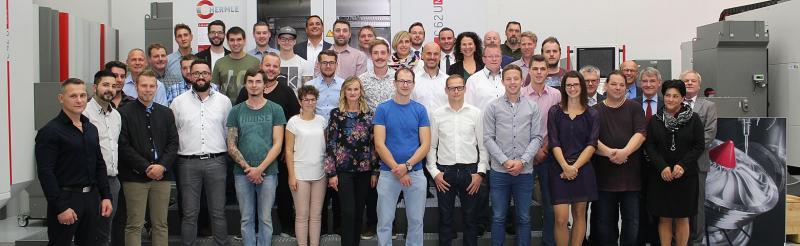Ehrungen von 43 Mitarbeiterinnen und Mitarbeitern bei der Hermle AG und deren Tochtergesellschaften