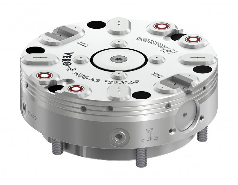 Das Schnellwechselmodul VERO-S NSE-A3 138 wurde speziell für automatisierte Anwendungen entwickelt.  Bild: SCHUNK