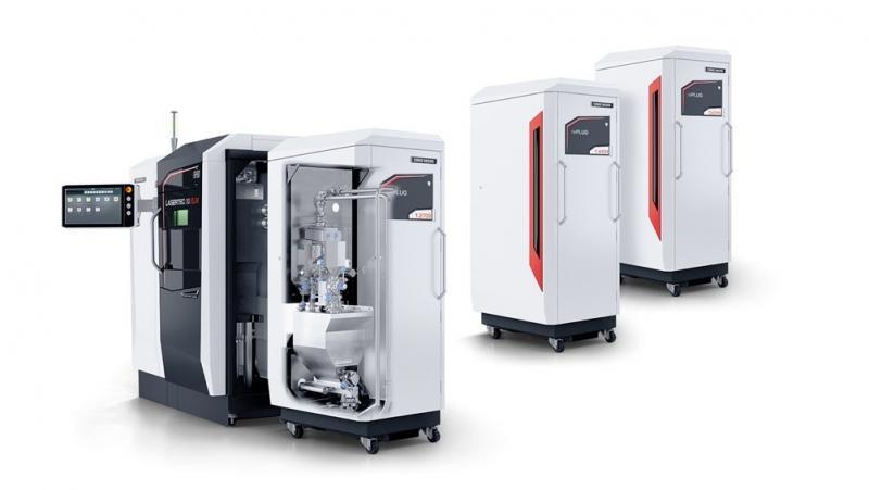 Das flexible Pulvermodul rePLUG ermöglicht einen Materialwechsel in weniger als zwei Stunden.
