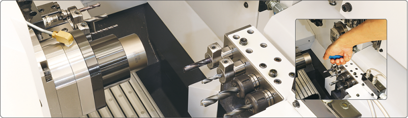The new BIG KAISER hydraulic chuck for Swiss-type automatic lathes