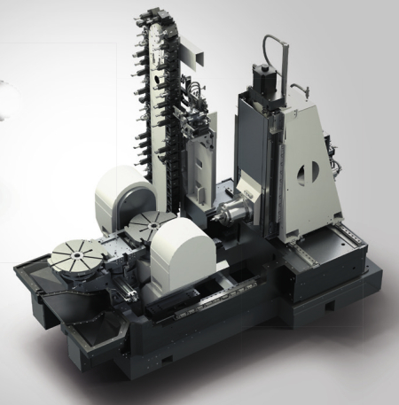 Thanks to its rotating table, which can move at a speed of 900 rpm, the new five-axis Heckert T45 turn-mill centre is also suitable for turning operations.