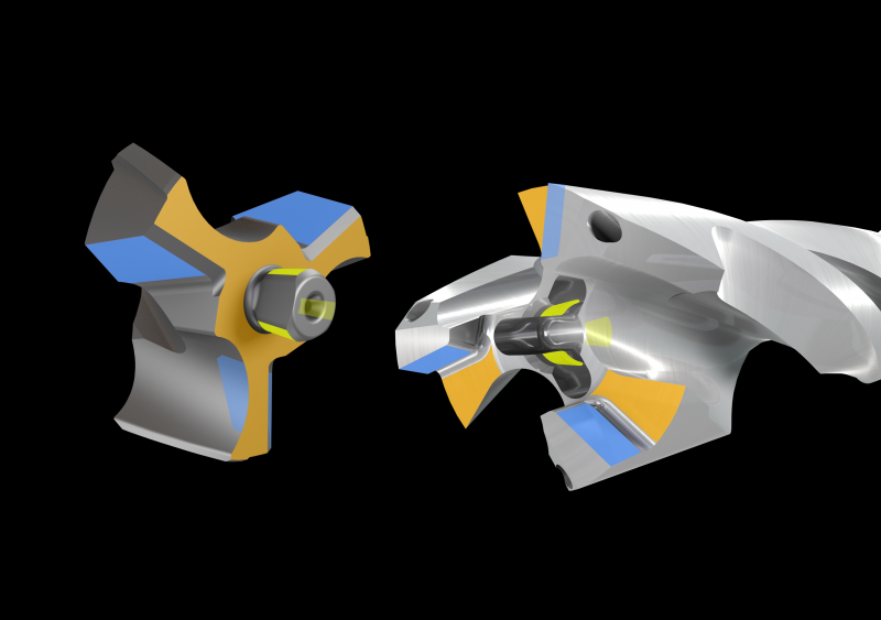 Das revolutionäre LOGIQ 3 CHAM-Bohrkopf-Klemmsystem ist das erste seiner Art und garantiert eine einfache und sichere Handhabung ohne jegliche Ersatzteile.