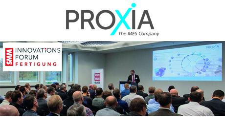 """Auch in diesem Jahr trafen sich wieder Experten aus der Schweizer Fertigungsindustrie am Fuße des Pilatus. Rund 200 Vertreter aus der Produktionsindustrie erweiterten ihren Horizont bei den zahlreichen Fachvorträgen. Marcus Niebecker, Produktmanager der PROXIA Software AG war mit dem Thema """"Digitale Reife als Grundlage für Industrie 4.0"""" als Referent vertreten."""