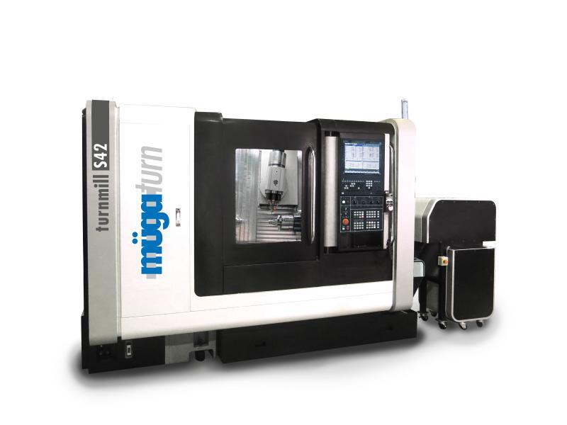 Maschinenfoto der müga millturn S42 - Dreh-Fräszentrum für die Medizintechnik