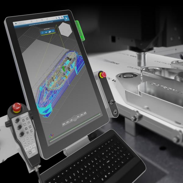 """Dass die Disziplinen Maschinenbau und Digitalisierung im Zusammenspiel gut funktionieren, bewies die DATRON AG mit der Eigenentwicklung der (r)evolutionäre DATRON next Software. Denn die innovative Kombination aus Soft- und Hardware vereinfacht dank dem """"Plug & Play"""" Prinzip, den Einstieg in das Hochgeschwindigkeits-Fräsen und eröffnet weitere neue digitale Möglichkeiten."""