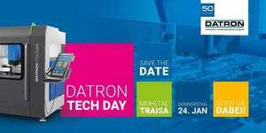 At the beginning of the new year DATRON AG invites to the first DATRON Tech Day at the main location in Mühltal-Traisa. The South Hesse milling machine specialist awaits its guests with entertaining multi-faceted specialist presentations embedded in a program full of hands-on innovations to touch.