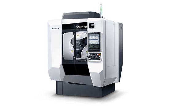 Die neue DMP 70 ist mit 4,2 m² Aufstellfläche eine äußerst kompakte Produktionsmaschine für Applikationen in anspruchsvollen Branchen.