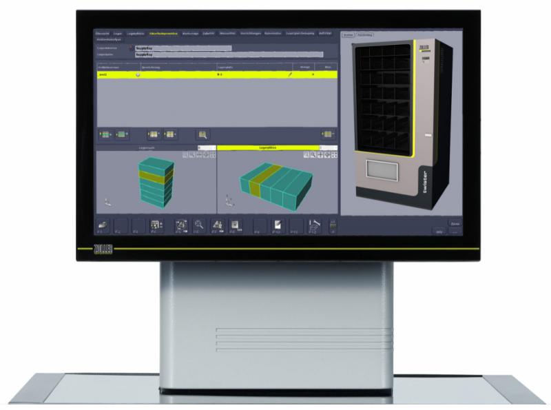 Darstellung des Lagerortes in der Software