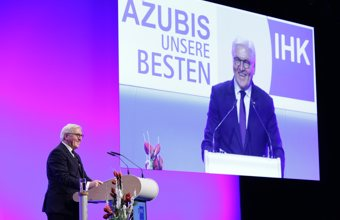 German Federal President Frank-Walter Steinmeier congratulated the nation's 213 best apprentices and their training companies.