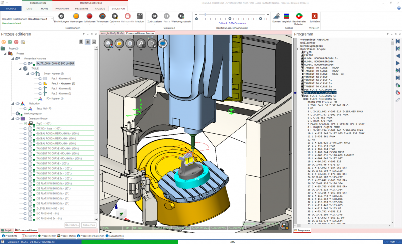 Das Potential digitaler Zwillinge in der CNC Fertigung