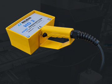 For the elimination of residual magnetism of large and complex parts, we offer the HD handheld demagnetiser.
