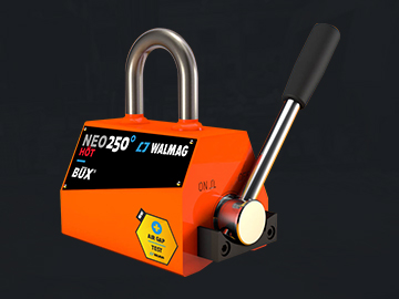 The Neo HOT permanent magnet is ideal for the hardest operations. You can handle loads with a temperature of 180 °C.