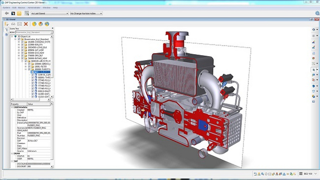 The user can simply click to display a sectional view.