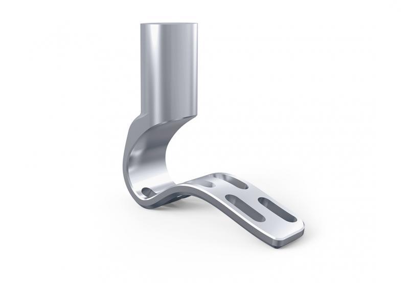 Aluminum prosthetic foot.