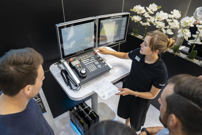 Bei der Optimierung von Bearbeitungsvorgängen unterstützt HURCO den Operator sicher und zuverlässig.