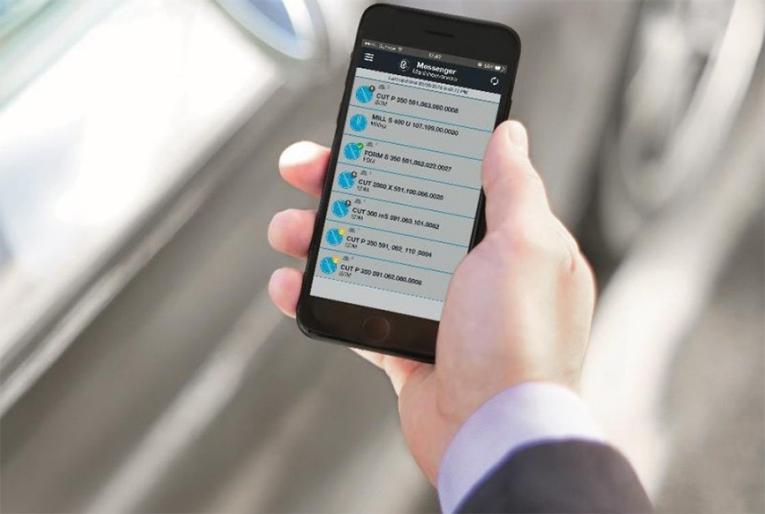 La nueva aplicación rConnect Messenger ofrece a los clientes acceso instantáneo a todos los datos del parque de máquinas, como el estado de las máquinas y los programas, en sus smartphones. Los usuarios también pueden enviar una solicitud de servicio para obtener un diagnóstico rápido y eficaz.