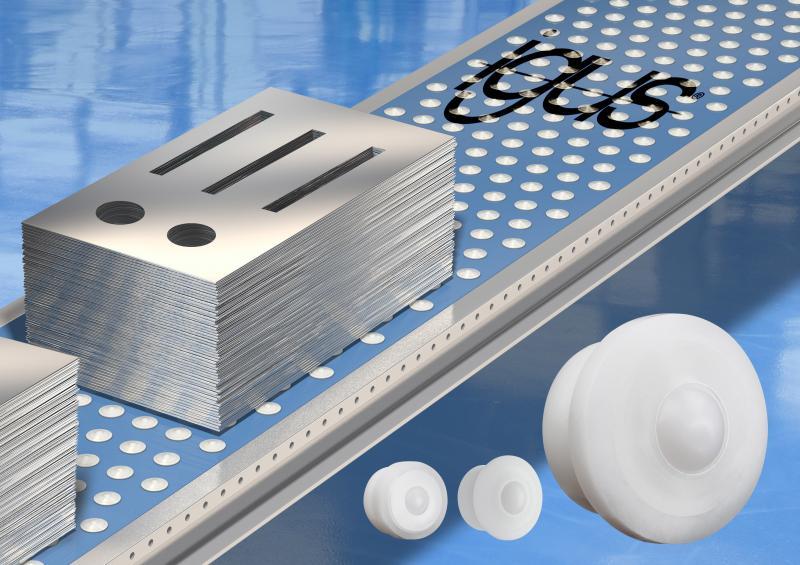 Die optimierten Polymerkugelrollen besitzen ein neues Gehäuseinneres, sodass sie jetzt bis zu fünfmal mehr Lasten aufnehmen können als bisher.