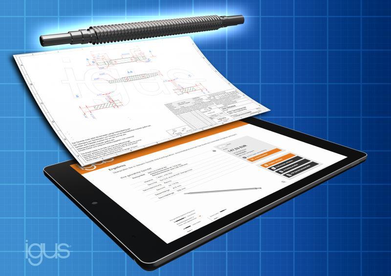Passende Spindel schnell konfiguriert und bestellt mit neuem Online Tool von igus.