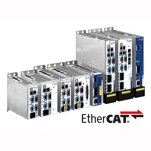All AccurET modular controllers are now compatible with EtherCAT communication bus. It brings the features of high-end controllers in your machine with minimal integration effort making the performance gains visible straightaway.