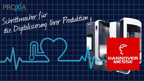 Schrittmacher für die Digitalisierung Ihrer Produktion - Erleben Sie PROXIA MES als Schrittmacher für die Digitalisierung Ihrer Produktion! Besuchen Sie uns in Halle 7 Stand A26. Erhalten Sie Ihre kostenlose Eintrittskarte!