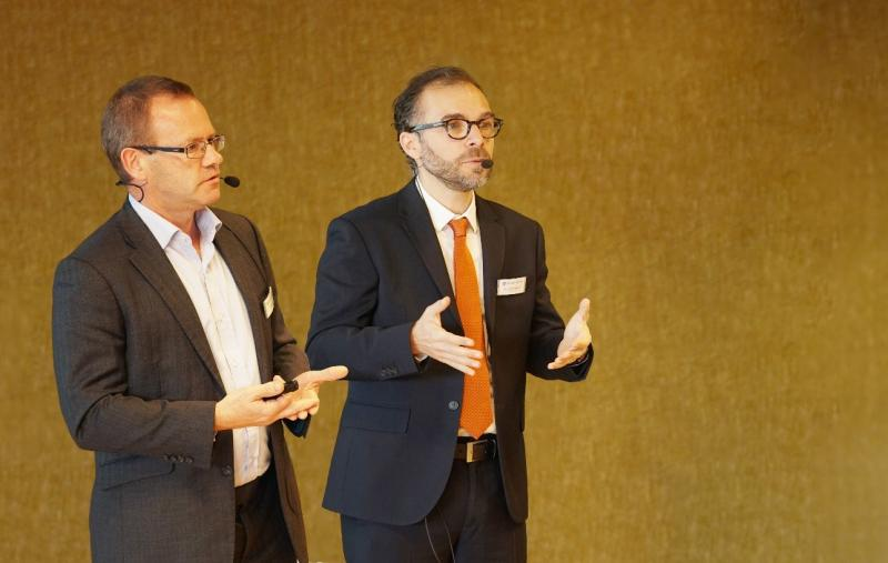 David Plater, Technical Director (left), and Yavuz Murtezaoglu, Managing Director (right), at the MIC 2018