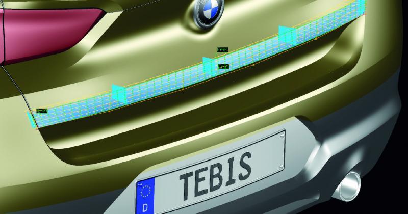 Bei der Flächenrückführung und der Flächenmodellierung bleiben in Tebis die theoretischen Kanten automatisch erhalten. In der Software stehen spezielle Funktionen zur Verfügung, um theoretische Kanten schnell zu erzeugen.