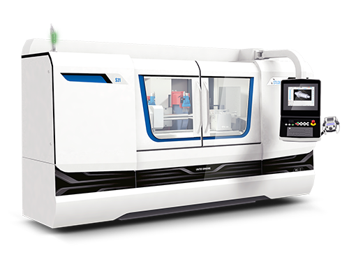 The new S31 performs complex and varied grinding tasks precisely and reliably. It can be used to produce small to medium-sized workpieces with a distance between centers of 400, 650, 1000 and 1600 mm and a center height of 175 mm in individual, small batch and high volume production. With a high-resolution B-axis of 0.00005° the swiveling wheelhead enables efficient external, internal and surface grinding in a single clamping.