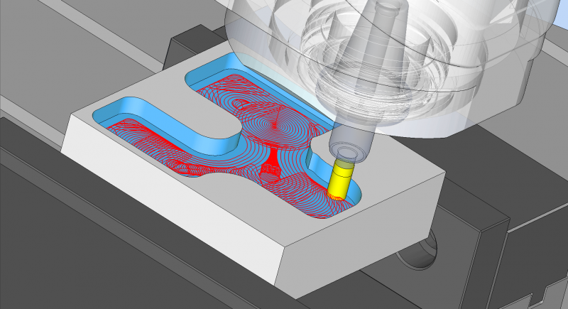 The new, patent-pending ProfitMilling strategy for 2, 3, 4 and 5-axis roughing cycles allows customers to remove more material in a shorter amount of time. The ProfitMilling strategy optimizes engagement angle, chip load, lateral cutter force and machine acceleration to achieve optimal results.