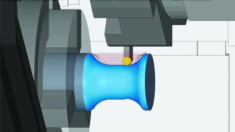 ProfitTurning™ is a productive and secure cutting method for high speed lathe roughing cycles. This new technology is based on an engagement control strategy and tool selection. ProfitTurning™ helps eliminate the adverse effects of traditional turning methods.