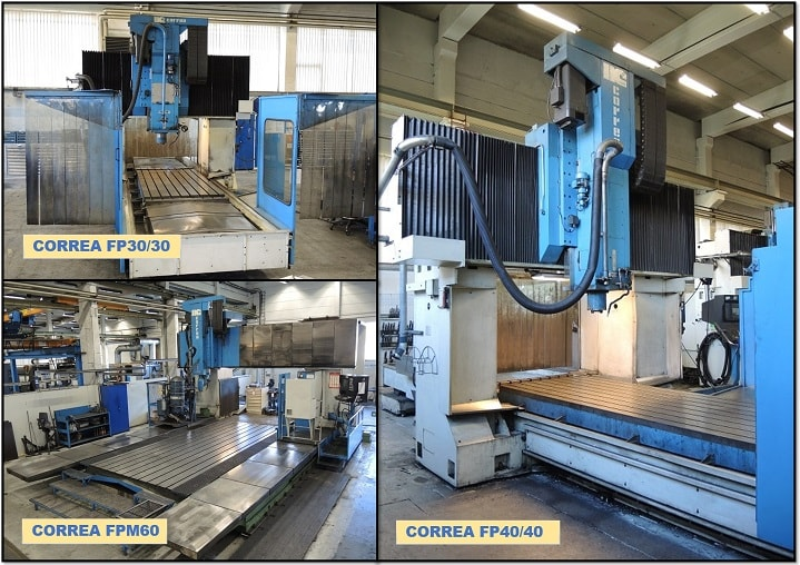 Nicolas Correa Service acquires several second-hand CORREA milling machines