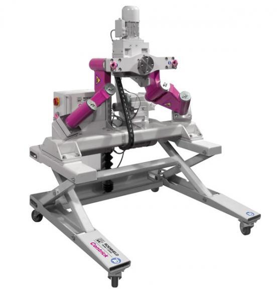 Werkzeuge und Formen bis 2.000 kg können mit dem Dreh-Kipp-Manipulator Centrick sicher bewegt werden.