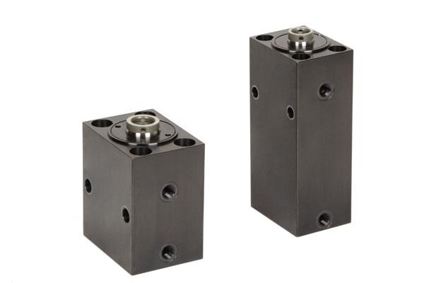 """Dank zahlreicher Varianten kann der Blockzylinder """"S"""" für eine große Bandbreite an Anwendungen verwendet werden, beispielsweise zum Stanzen, Umformen und zum Betätigen von Kernzügen und Schiebern im Formenbau."""