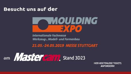 Die Moulding Expo öffnet vom 21.05.2019 bis 24.05.2019 in Stuttgart ihre Tore und gibt einen umfassenden Überblick über die Qualität des europäischen Werkzeug-, Modell- und Formenbaus sowie seiner Zulieferer. Das breite Spektrum an internationalen Ausstellern macht die MOULDING EXPO in Stuttgart zum wichtigsten Netzwerk-Treffen der Branche.   Sie finden uns auf dem Mastercam Stand D23 in der Jacques Lanners Halle 3, hier informieren wir Sie gerne über die neuen Entwicklungen über Mastercam.  Wir freuen uns über Ihren Besuch.  PS: Fordern Sie gleich Ihre kostenlosen Tickets bei uns an!