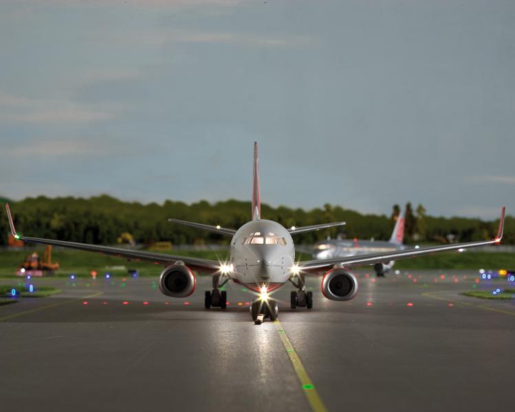 Lineartechnik sorgt für Präzision und Pünktlichkeit auf dem Flughafen des Miniatur Wunderlands in Hamburg.
