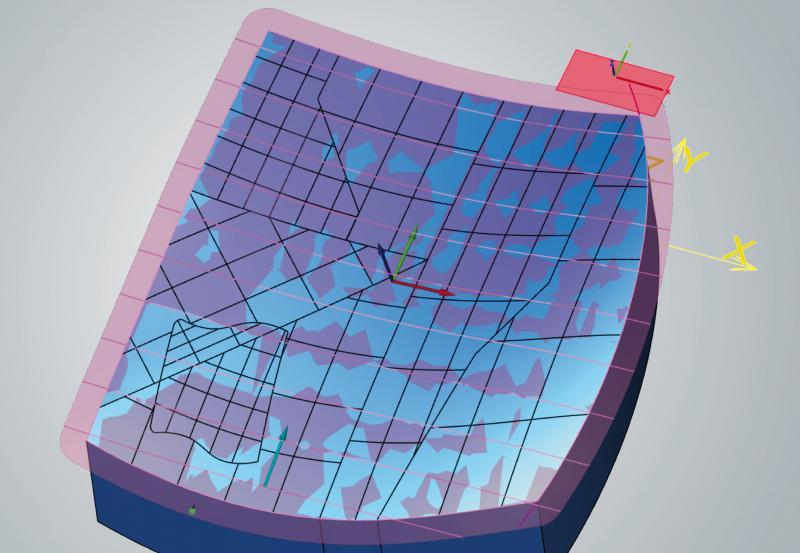 Tangentialbearbeitung: automatisches Erstellen einer einheitlichen Fläche mit definierter ISO-Ausrichtung
