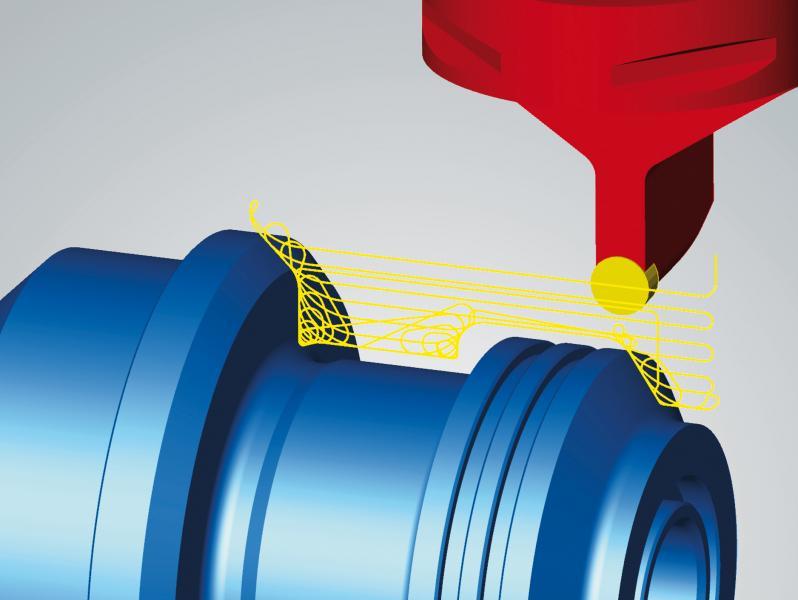 High Performance für das Drehen: effizientes Schruppen durch trochoidale Werkzeugbahnen