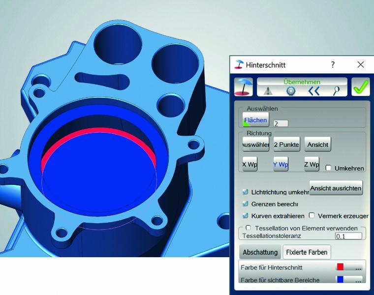 hyperCAD ®-S: schnelle und zuverlässige Analyse von Hinterschnitten